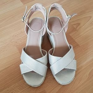 H&M gold wedge sandals